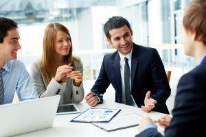 Business Meeting in einem Unternehmen