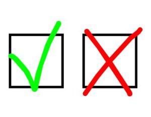 Kreuz und X als Symbol für Wichtigkeit