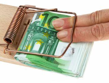 Mäusefall mit Geld